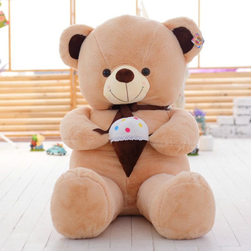 80cm 2017 New Style ice cream Bear Plush Toys Stuffed plush animals doll bear doll kids toys baby doll Drop shipping<br><br>Aliexpress