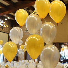 100 pcs/lot 12 inch 2.8g Latex balloon Helium Round balloons Thick Pearl gold silver wedding balloons party wedding decoration(China)