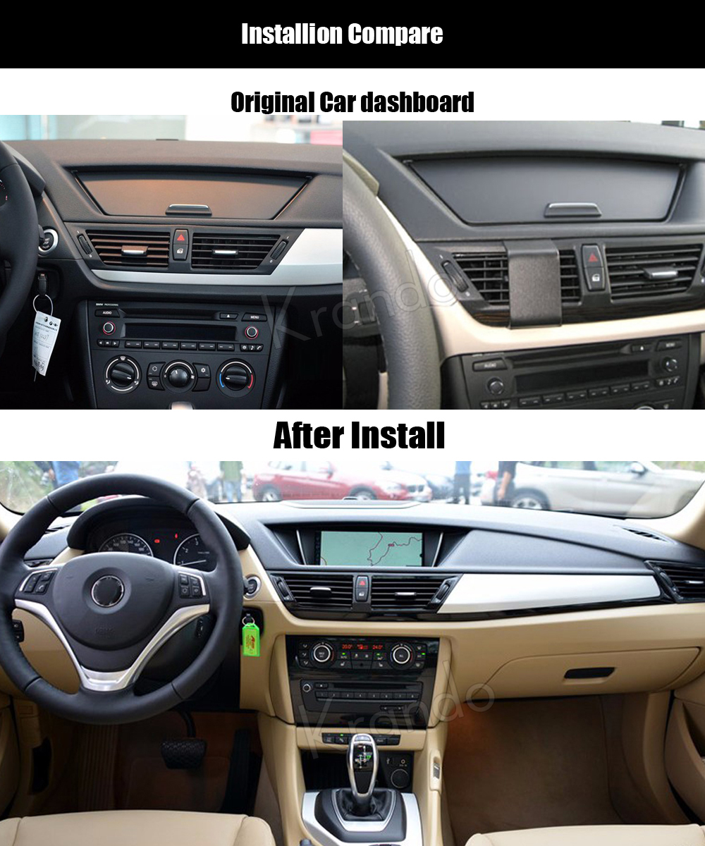 Krando bmw X1 E84 2009-2013 Android car radio gps dvd player navigation multimedia system