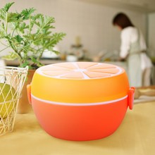 ASLT Creative Design Orange Lunch Bowl Cutlery Plastic Lunch Box Bento Storage Kids Bowl Food Container Plate Sn Dinnerware Sets