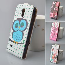 Leather case for Samsung Galaxy S4 Mini i9195 GT-i9195 phone case for Samsung S4Mini / i 9195 flip cover phone bags phone shell(China)