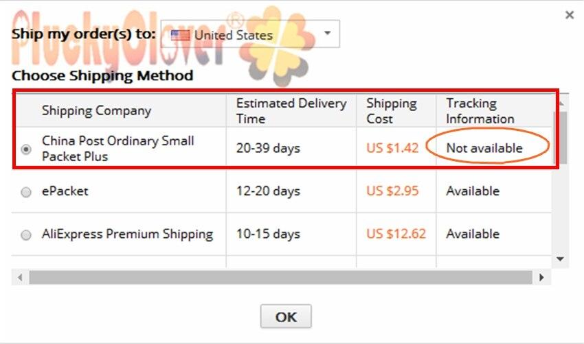 shiping information