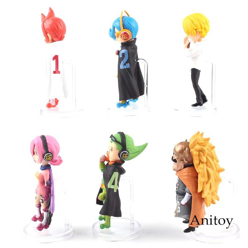 6pcs One Piece VSF Vinsmoke Family Judge Sanji Reiju Ichljl Niji Yonji Figure