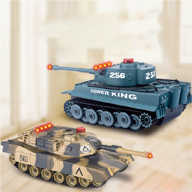 Fighting Battle Tanks 4CH RC Infrared Shooting Tank Electric Toys Army Vehicle Big War Tank For Kids(China)