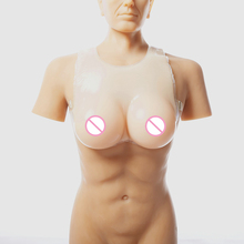 Buy Realistic Fake Tits 1600g/pair Conjoined Strap Breast Form Shemale Crossdresser Silicone Breasts Drag Queen Artificial Boobs