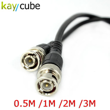 0.5M /1M / 2M /3M BNC Male to BNC Male M/M RG59 CCTV Camera Coaxial Cable Adapter Lead Jumper Coax Male Extension Cable