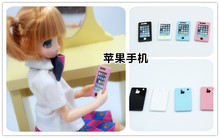 Mini apple mobile phones available for 1/6 1/8 1/12 BJD dolls Blythe doll accessories