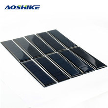 Aoshike 10pcs Epoxy Solar Panel 100*28mm 5.5V 60mA DIY Photovoltaic Panel Cell Charger Lamp Light  Sun Power Solar Manels Modle