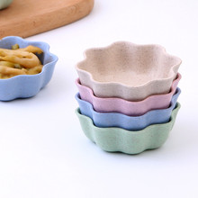 4PCS Kitchen Supplies Creative Lovely Flower Round Heart Shape Soy Sauce Dish Bowl Plate Japanese Style Tableware Food Container(China)