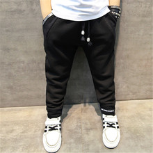 2017 spring new children's clothing boy pants baby pants in the big children's casual feet pants children's sports trousers tide(China)
