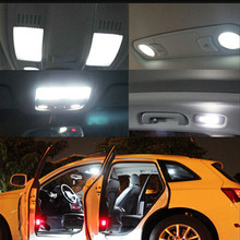 11pcs per set LED Bulb Interior Dome Map trunk Package Kit For Audi Q7 2014 Car Stying(China)