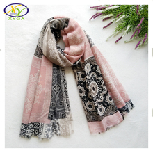 1PC 180*100CM 2017 Fall New Design Ethnic Style Soft Cotton Women Fashion Long Scarf Woman New Soft Viscose Shawls Pashminas(China)
