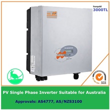 3000W Grid Tie Single Phase Solar Inverter 230Vdc transformerless DC to AC on Grid with LCD display IP65 for Australia market