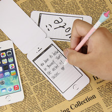 2 PCS Cell Phone Shaped Memo Pad Gift Office Supplies Writing Memo Pad Gift Note Paper