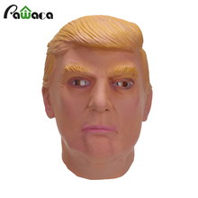 Donald Trump Costume Mask Celebrity Cosplay Full Face Halloween Party Masquerade Carnival Mask Latex Ornament Real Simulate Mask(China)