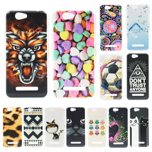 New Cover For Wileyfox Spark / Spark+ Case Fashion Pattern Coloured Painting Plastic Back Cover Case For Wileyfox Spark Fundas