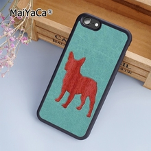 MaiYaCa Red French Bulldog Pattern dog fashion soft mobile cell Phone Case Cover For iPhone 6 6S Custom DIY cases luxury shell(China)