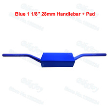 "Buy Aluminum 6061 Alloy Fat Bar Handlebar 28mm Blue 1 1/8"" W Bar Pad Pit Dirt Bike ATV Quad Buggy Go Kart Motorcycle Motor Moped for $31.42 in AliExpress store"