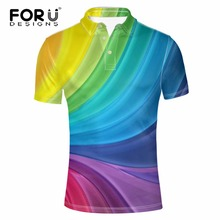 FORUDESIGNS Men Polo Shirt Men's Short Sleeved Summer Casual Polo Ralphmen Tommis Fashion 3D Printed Camisa Polo Masculina Polos