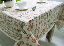 Linen Rectangular Tablecloths For Christmas Party Coffee Table Cover Christmas Table Cloth toalha De Mesa Quadrada