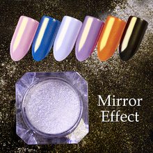 Diamond Pearl Mermaid Powder Silver Gold Mirror Glitter Nail Art Dust Shines Matte Effect Manicure Nail Glitters Pigments(China)