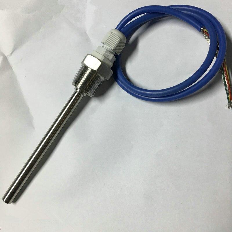 5 sensores de temperatura NTC 100 K 1/% NTC B3950 impermeables con sensor de temperatura de precisi/ón y sensor de temperatura de 1 m