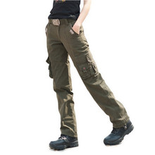 Women Military City Tactical Pants Women's Cargo Pants Army Combat Trousers Size 27-31(China)