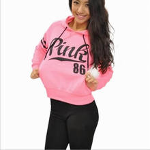 Harajuku Hoodies New Women Casual Hoodies Spring Autumn Sportswear Love Pink Letter Print Cotton Pullover Sweatshirts(China)