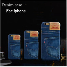 For iphone 6 plus Cases Classic Blue jeans Hard Back Cover For iphone 7plus 7 Coque 6s plus 5 5s SE Cellular Phone Shell nf306
