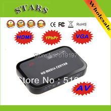 2 pcs 1080P multi HD media video player Center with HDMI VGA AV USB SD/MMC Port Remote Control