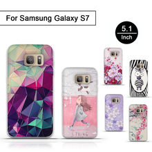 New TPU Soft Case For Samsung Galaxy S7 Case 3D Stereo Relief Printing Silicone Gel Phone Cover For Galaxy S7 S 7 Cover Cases(China)