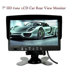 7 inch TFT LCD Monitor Color screen 2 Video Input Car Rear View Headrest Monitor DVD VCR Monitor Support Rotating car-styling