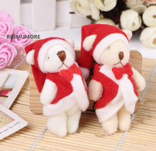 1000PCS Bulk Wholesale , HOT New Year Bears , Christmas Trees & Candy Boxes Accessories Gift Plush Stuffed Bear Toys(China)