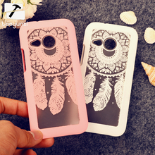 Rubberized Painted Dream Catcher mobile phone skin case Cover For HTC One 2 Mini M8 mini case Flower Pattern phone shell