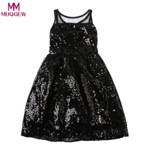 Kids Girl Summer Party Princess Dress Toddler Baby Girl Summer Sequin Vest Girl Dress Baby Princess Dress Kids Costume(China)