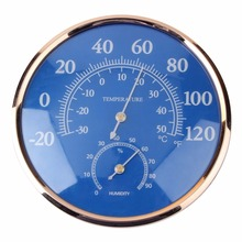 Superior Quality Large Round Thermometer Hygrometer Temperature Humidity Monitor Meter Gauge 2016 Top Sale