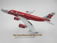 16cm Metal Air Asia CAPA BEST NEW AIRLINE Airbus 340 A340 Model Plane Aircraft Airways Airplane Model w Stand Kids Gift(China)