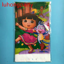2pcs 180*108cm Dora theme PE Table Cloth for kids birthday party decoration tablecover LUHONGPARTY
