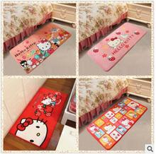 5 Color Option Lovely Soft Comfortable Hello Kitty Slip-Proof Home Gate BedCarpet Floor Mat SIze 60*120CM(China)