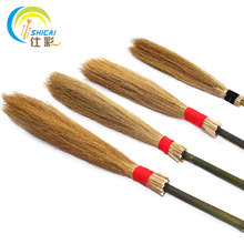 Free Shipping Harry Potter Flying broom Halloween party props Pure handmade Witch broom / Long about 100cm(China)