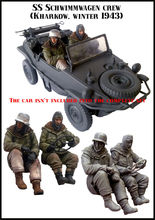 [tuskmodel] 1 35 scale resin model figures kit German E53 two figures no car