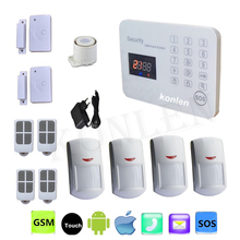 Android GSM Home Security Alarm System 433mhz Voice LCD Wireless Wired For House Safety Alarmas Casas SMS SIM Card Auto Dialer