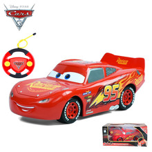 2017 Disney Pixar Cars 3 Lightening Macqueen RC Car Toys for Children Boys Car Race Xmas Gifs with Cool Remote Controller(China)