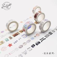 Retro Style 10 Designs Decorative Washi Tape DIY Scrapbooking Masking Craft Tape School Office Supply Escolar Papelaria
