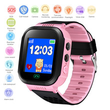 BANGWEI Children safety Smart Watch 1.44inch Touch Button Big screen with flashlight LBS positioning SOS call English/Russian(China)