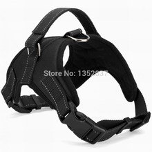 Free shipping dog harness for walking & reflective strap padded pet dog collar harness pet dog clothes Black color