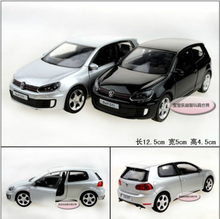 Candice guo alloy car model Yufeng mini cool 1:36 mini volkswagen Golf GTI plastic motor toy birthday gift christmas present 1pc