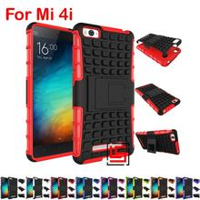 Armor Rugged Hybrid Hard PC TPU Silicone ShockProof Holder Stand Phone Phon Case Cover Bag For Xiaomi Xiomi Mi4i Mi 4i Purple