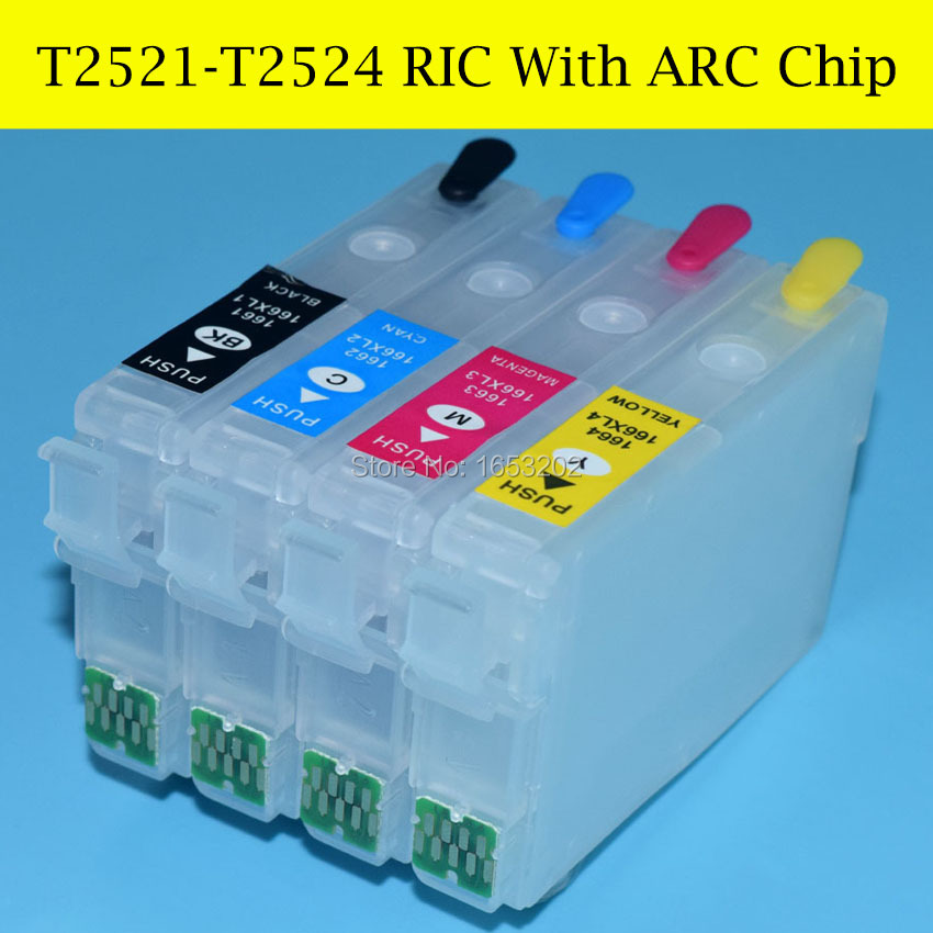 Best For Epson T2521-T2524/T252 Refill Ink Cartridge With ARC Chip For Epson WF-7610/7620/3620/3640 Printer<br><br>Aliexpress