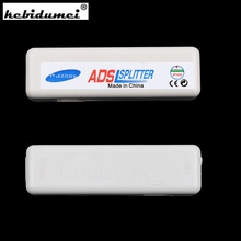 Hot sale RJ11 ADSL Line Splitter Fax Modem Broadband for Phone Network Jack Noise Filter wholesale(China)